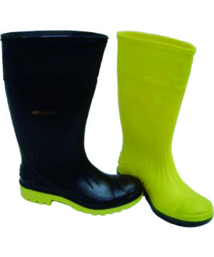 """PROSAFE"" PVC Boots with Steel Toe Cap & Mid Sole"