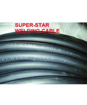 """NICHIYO"" Black Butadiene-styrene Rubber Welding Cable"