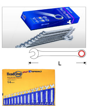Head  Stop  Combination  Wrench  Set