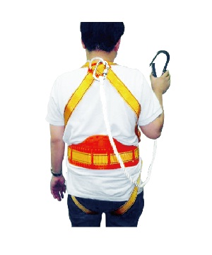 Body Harness With Back Support Big Hook
