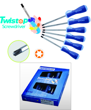 6PC Torqux Head and Hex Shank Screwdriver Set