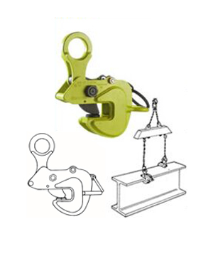 AMS TYPE HORIZONTAL LIFTING CLAMP WITH LOCK