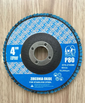 """ELEPHANT"" Zirconia Oxide Flap Disc For S/S"