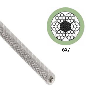 6X7+FC TRANSPARENT PVC COATED STEEL WIRE ROPE