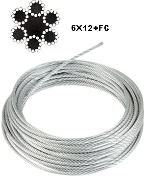 6X12+7FC STEEL WIRE ROPE