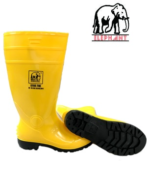 """ELEPHANT"" PVC Safety Boots with Steel Toe Cap or with Steel Toe Cap & Mid Sole"