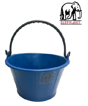 """ELEPHANT"" H/D Blue Cement Bucket"