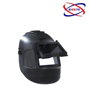 Black Welding Shield C/W BIG GLASS