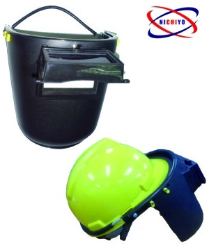 WELDING HEAD SHIELD SPRING TYPE HOOK ON HELMET