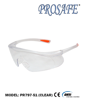91797 Anti-Scratch Safety Eyewear (clear lens)