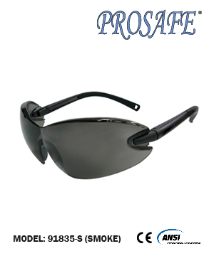91835 Soft Rubber Temple End Safety Eyewear (smoke lens)