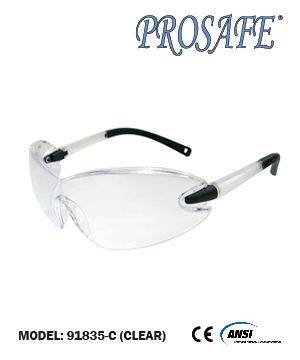 91835 Soft Rubber Temple End Safety Eyewear (clear lens)