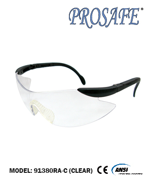91380RA Adjustable Temple Safety Eyewear (clear lens)