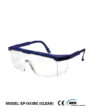 Blue/Clear Safety Spectacle C/W Blister Pack