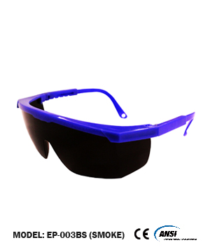 Blue/Smoke Safety Spectacle C/W Blister Pack