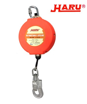 """HARU"" Retractable Type Fall Arrestor Block (6m, 10m, 15m, 20m,25m)"