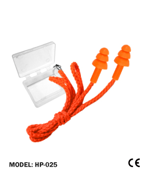 Orange Ear Plug Three Flute Corded