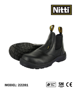 """NITTI"" 22281 Mid Cut Safety Shoe"