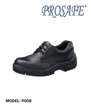 """PROSAFE"" Black Leather Safety Shoe"