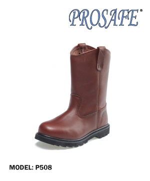 """PROSAFE"" Brown Leather Safety Shoe"