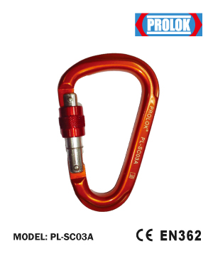 Aluminium Screw Type Carabiner