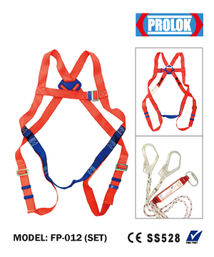 """PROLOK"" Full Body Harness with Double Lanyard Complete Set"