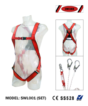 """SWELOCK"" Full Body Harness with Double Lanyard"