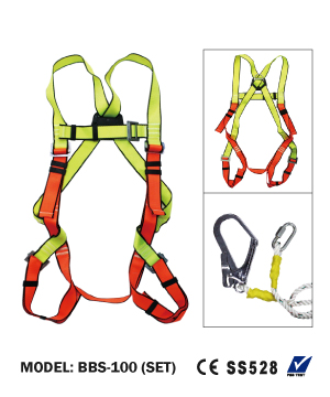 """BEST"" Full Body Harness with Big Hook Single Lanyard"