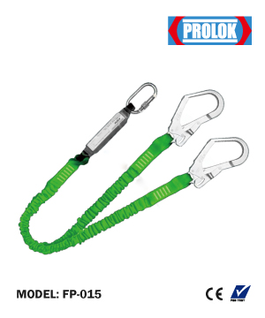"""PROLOK"" Energy Absorber Fall Arrest Webbing Double Lanyard"