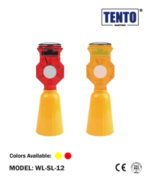 """TENTO"" Solar Barricade Flashing Light"