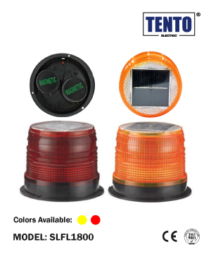"""TENTO"" Solar LED Flashing Light Magnetic Type"