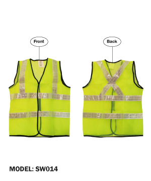 LTA Green Safety Vest with White Reflective