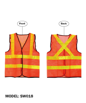 LTA Orange Safety Vest with Yellow Reflective