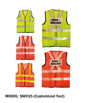 Safety Vest with Customized Text
